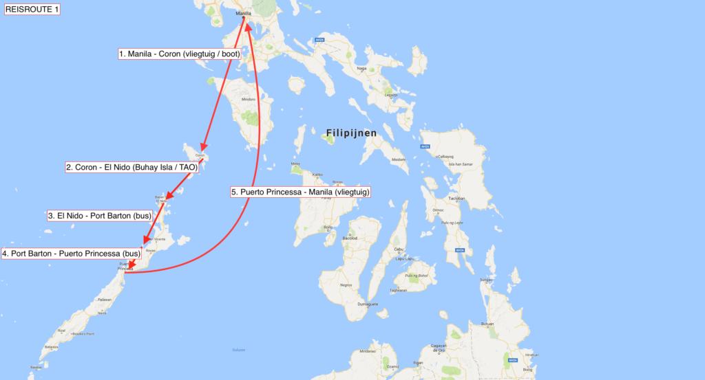 reisroute filipijnen palawan