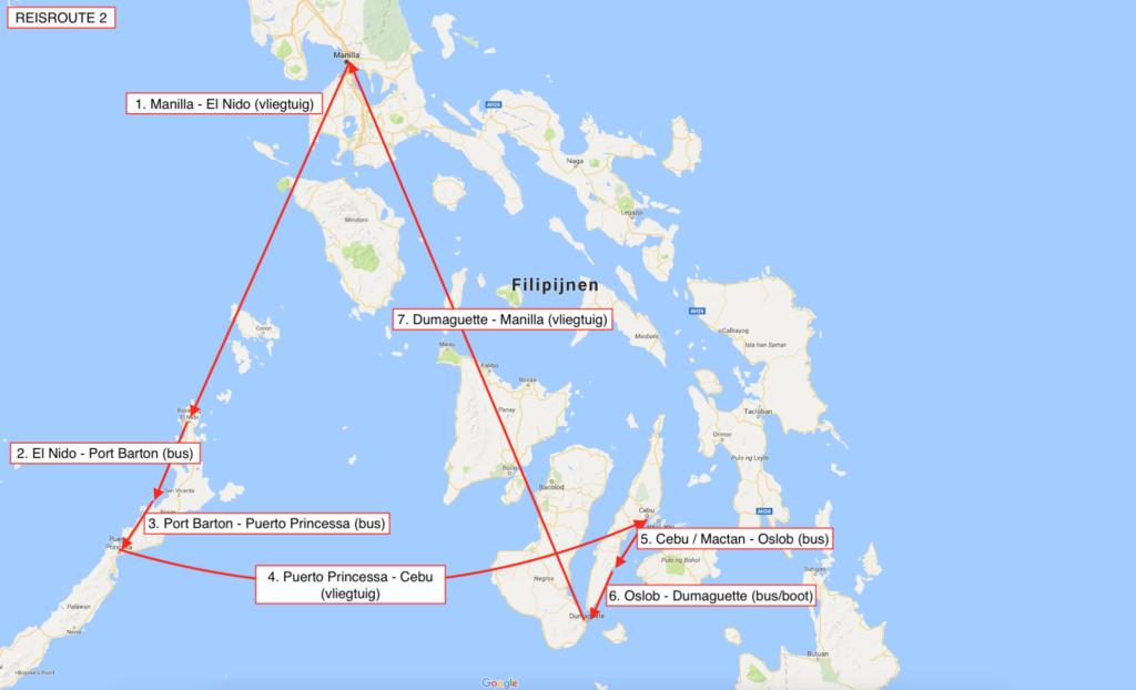 Reisroute filipijnen cebu palawan