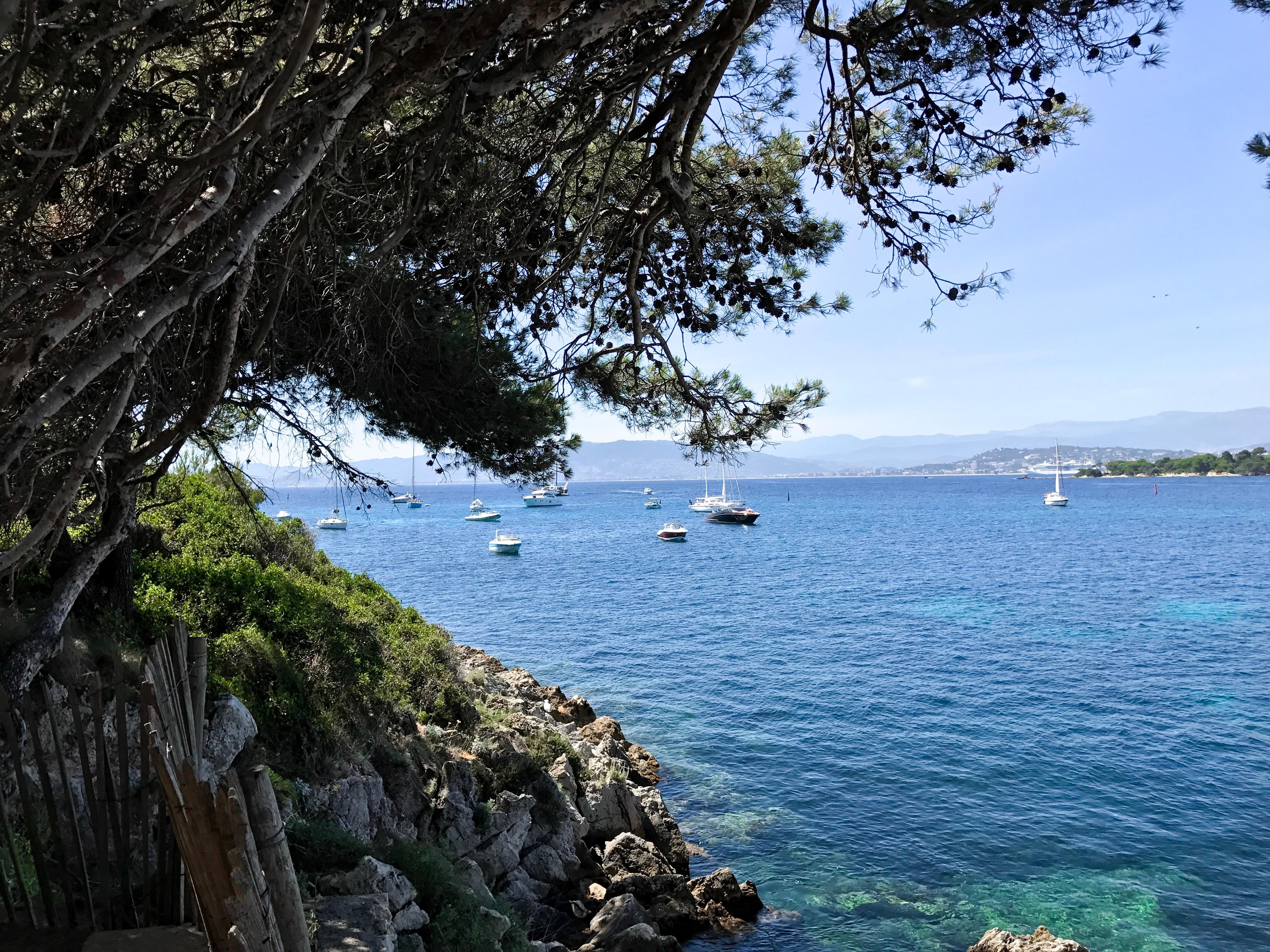 Uitzicht vanaf Île Saint-Honorat