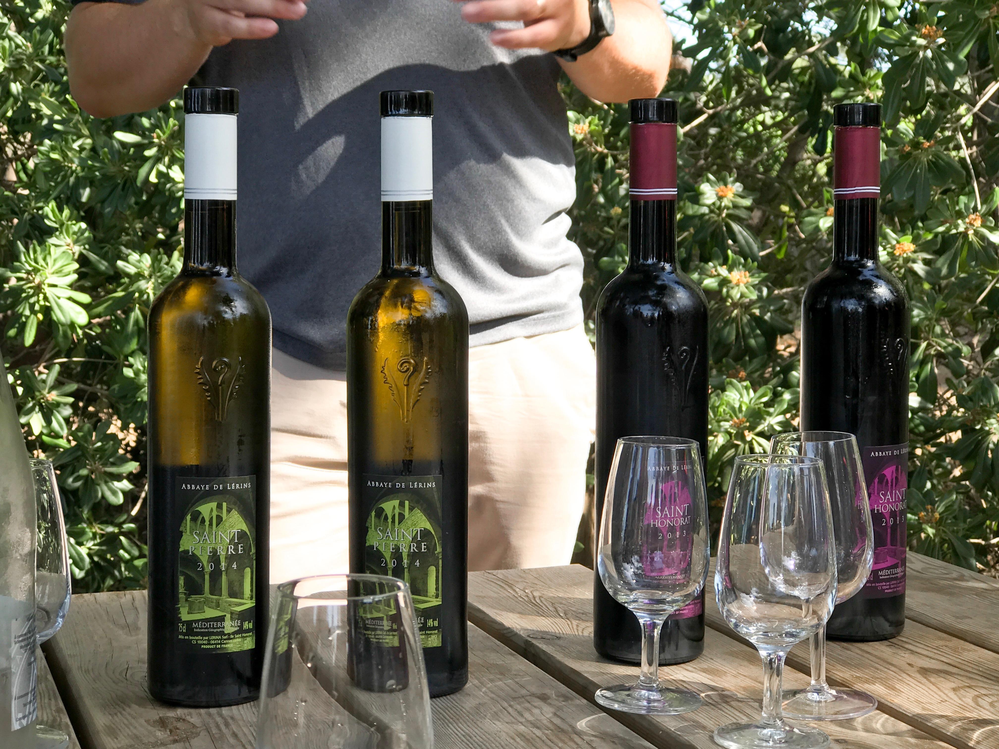 De wijn die op het eiland gemaakt wordt
