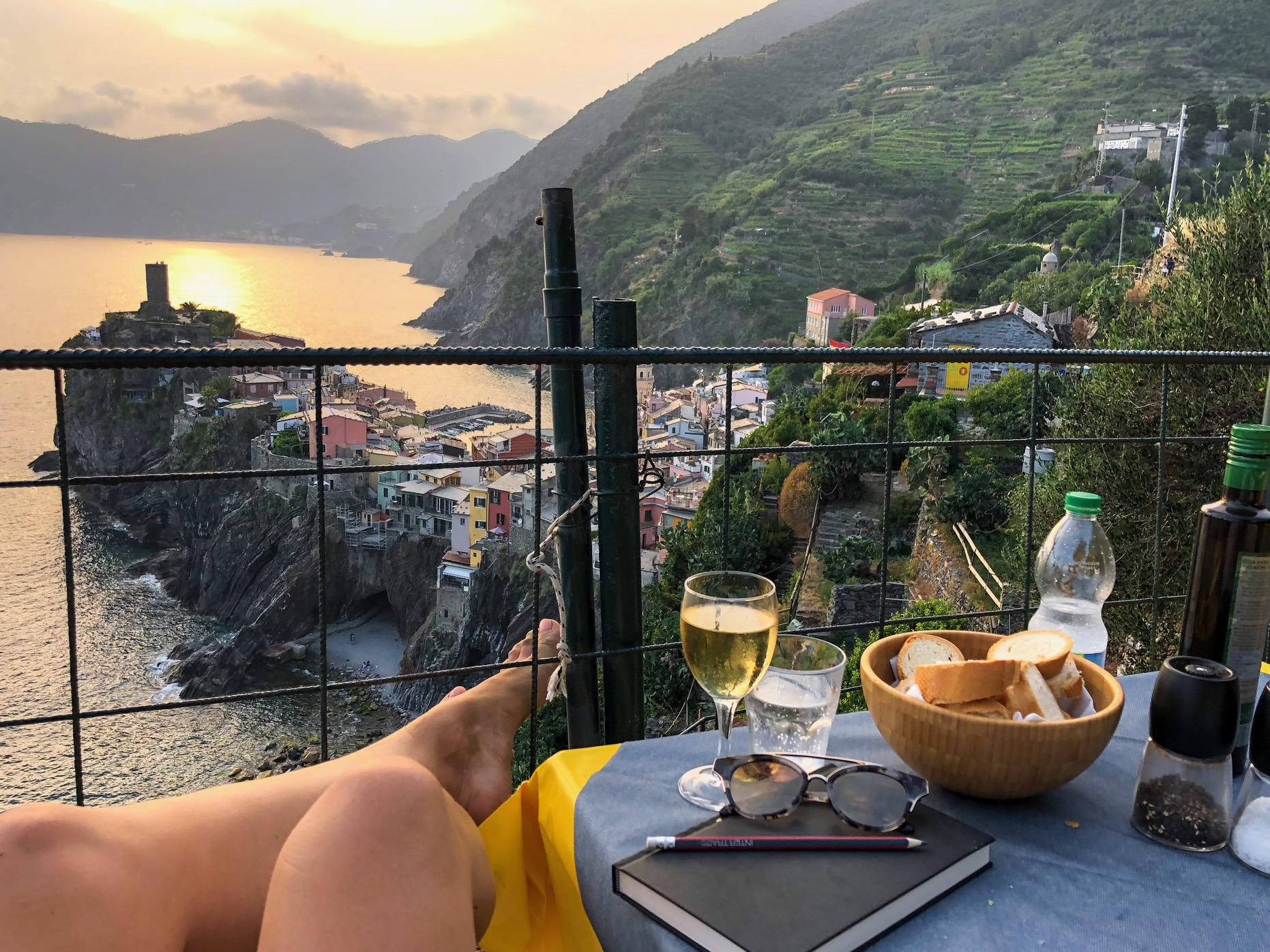 De mooiste terrassen in Cinque Terre, Italië